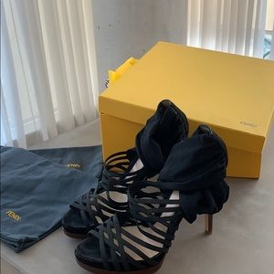 Fendi sandals size 38 black